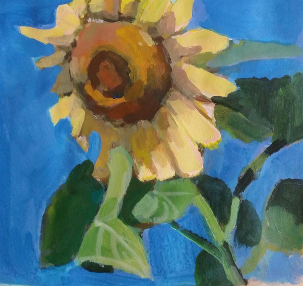 """A Sunflower"" original fine art by Liz Maynes"