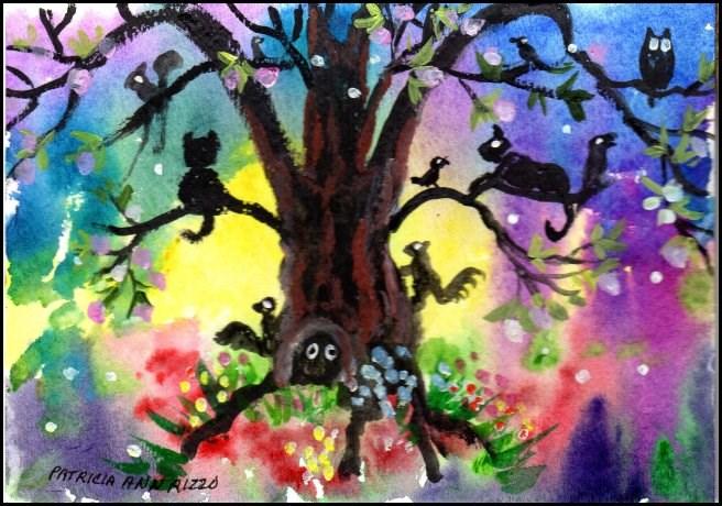 """NFAC Magic Tree 1"" original fine art by Patricia Ann Rizzo"