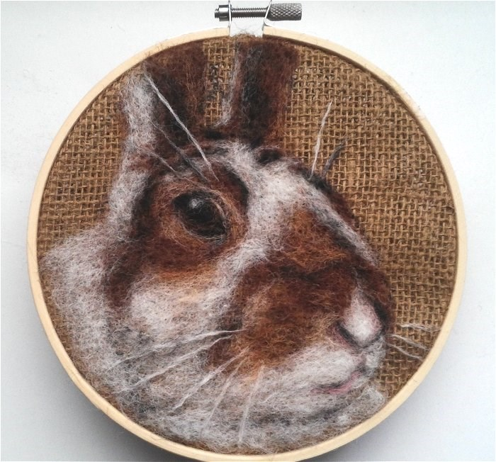 """""""Brown and White Bunny"""" original fine art by Camille Morgan"""