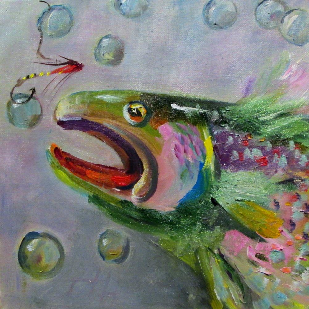 """Trout"" original fine art by Delilah Smith"