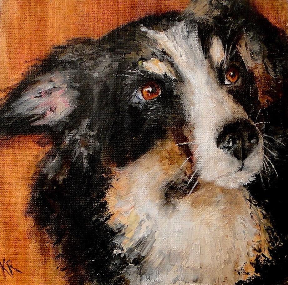 """Anything for me?"" original fine art by Karen Robinson"
