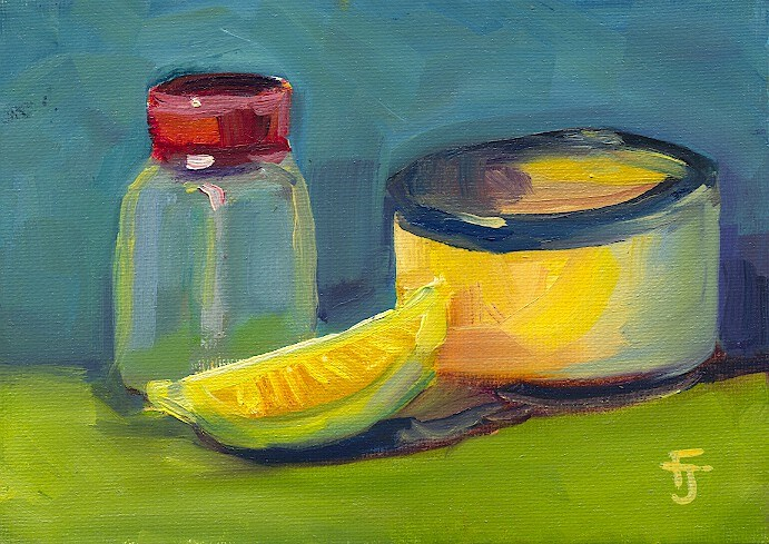 """Shaker & Lemon"" original fine art by Francine Dufour~Jones"
