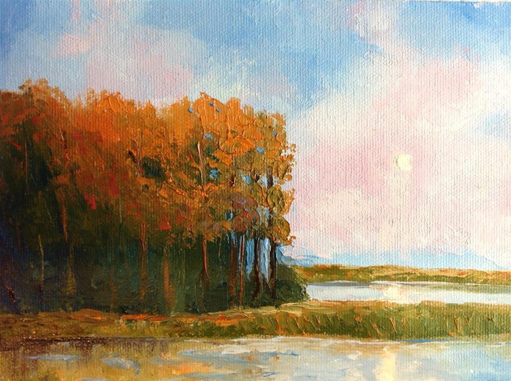 """Bold Sunrise"" original fine art by Rose Brenner"