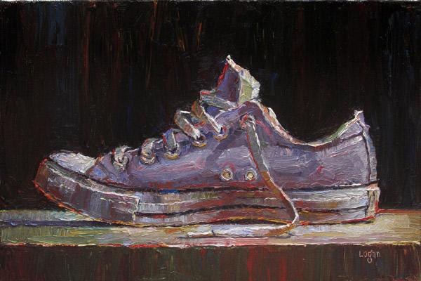 """""""Low Chuck (a little larger)"""" original fine art by Raymond Logan"""