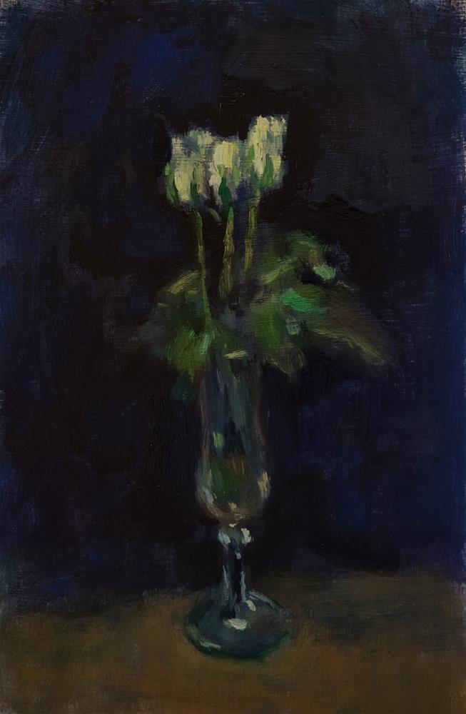"""White Roses"" original fine art by Andre Pallat"
