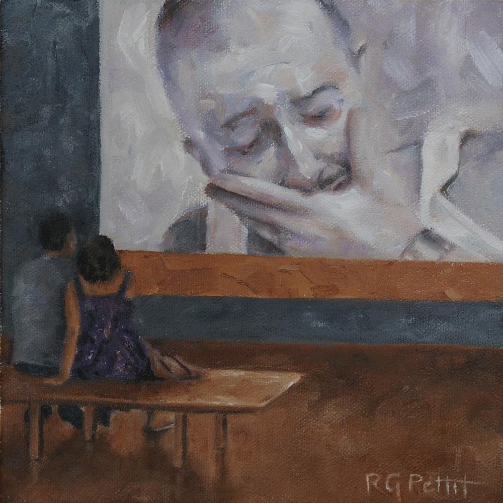 """CRY"" original fine art by Rhea  Groepper Pettit"