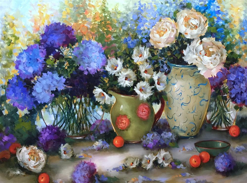"""Daisy Drifters and a Dallas Arboretum Show - Nancy Medina Art"" original fine art by Nancy Medina"