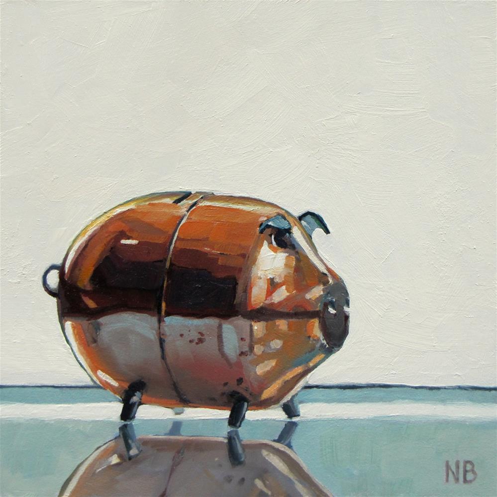"""""""This Little Piggy"""" original fine art by Nora Bergman"""