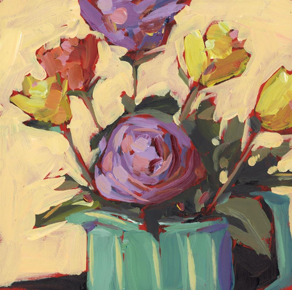"""1241: Portable Rose Garden"" original fine art by Brian Miller"
