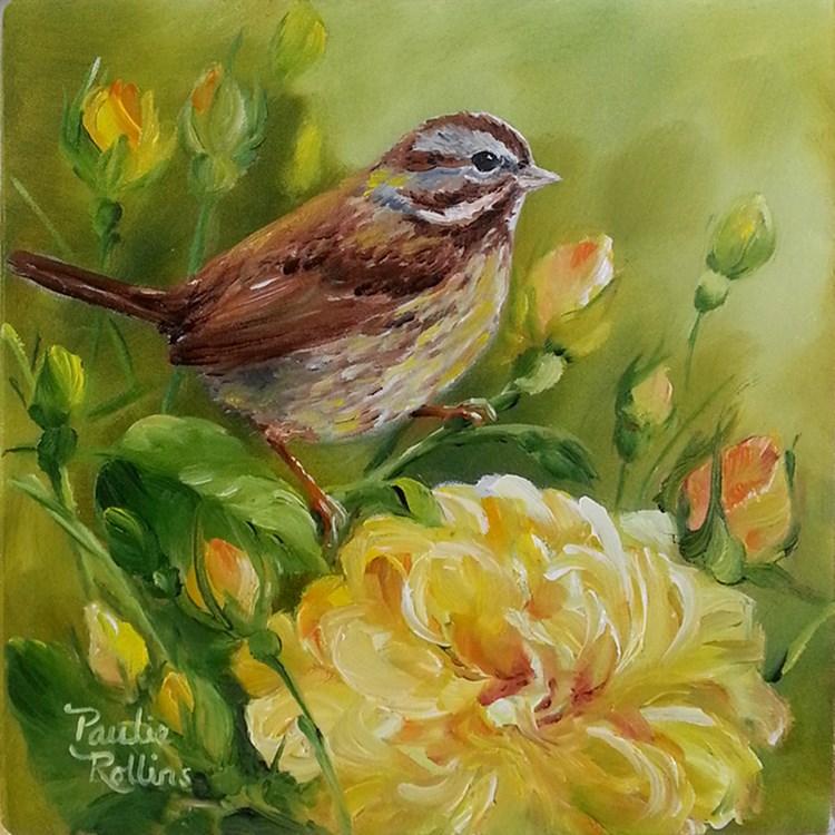 """Yellow Roses"" original fine art by Paulie Rollins"