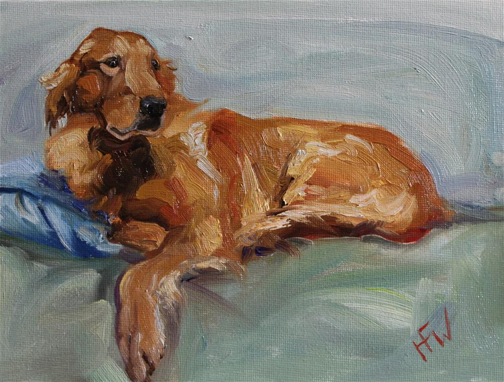 """Lazy Golden"" original fine art by H.F. Wallen"