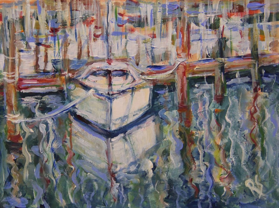 """The Venetian Boat"" original fine art by Roberta Schmidt"
