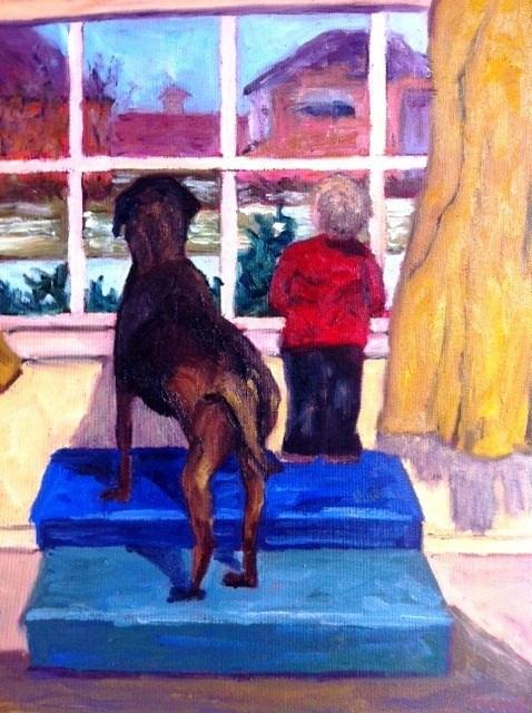 """Looking for Snow"" original fine art by Liz Zornes"