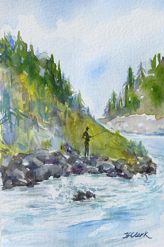 """Gone Fishing"" original fine art by Judith Freeman Clark"