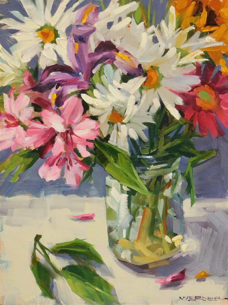 """Petals A Plenty"" original fine art by Karen Werner"