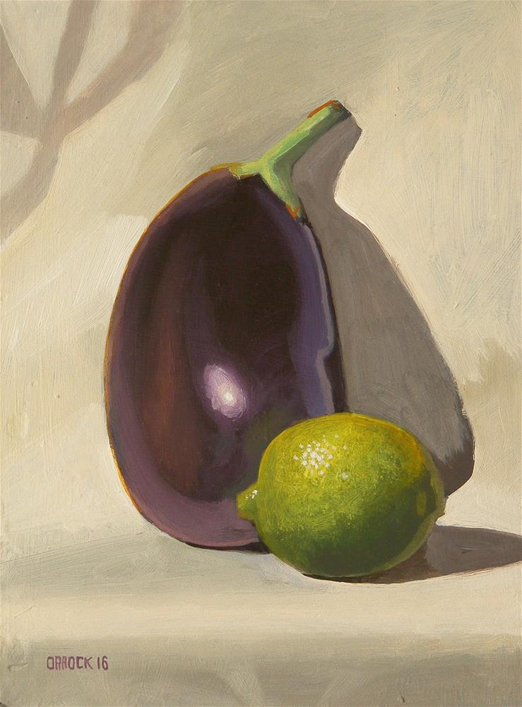 """""""Lime and Aubergine"""" original fine art by Peter Orrock"""
