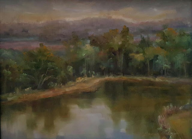 """Pond off Church Street"" original fine art by Tammie Dickerson"