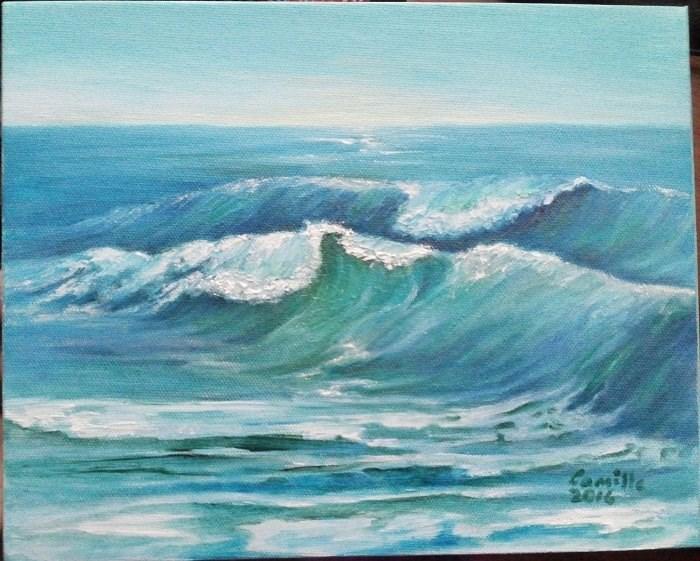 """""""Ocean Waves"""" original fine art by Camille Morgan"""