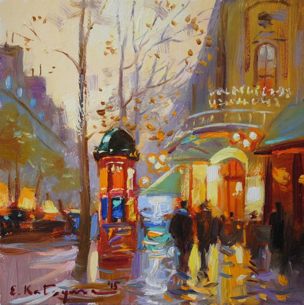 """Bright Evening"" original fine art by Elena Katsyura"