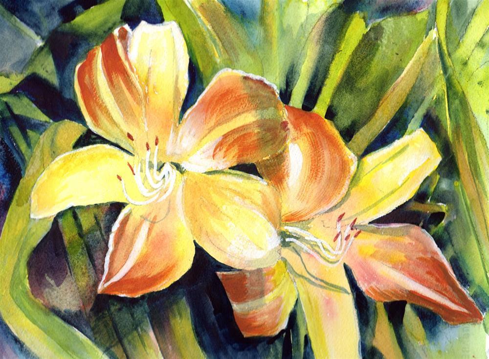 """Tiger Lilies"" original fine art by Bunny Griffeth"