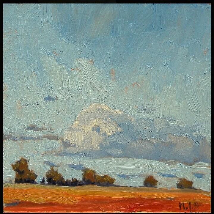 """""""Autumn Skies Original Oil Painting Midwest Impressionism"""" original fine art by Heidi Malott"""