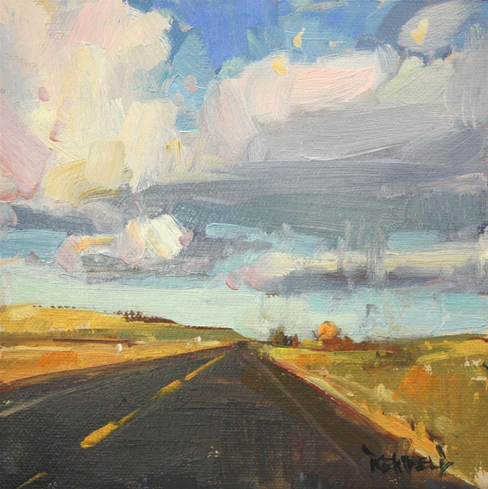 """""""Western Skies"""" original fine art by Cathleen Rehfeld"""