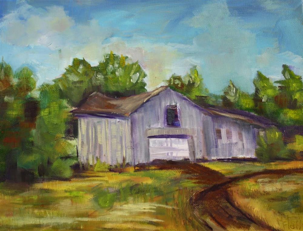 """Barn Challenge"" original fine art by Maggie Flatley"
