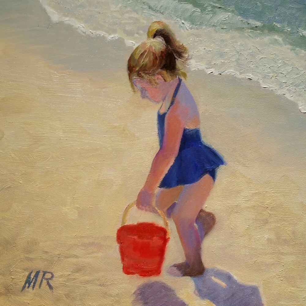 """""""Big Sister at Work"""" original fine art by Michelle Rideout"""