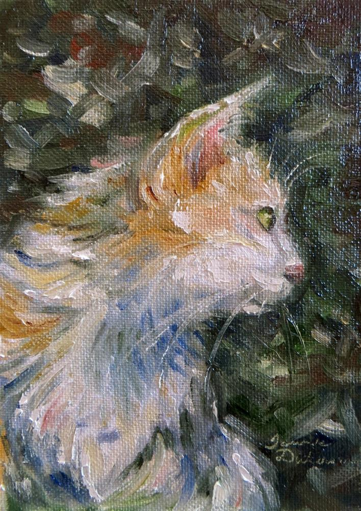 """Sir Pounce"" original fine art by Tammie Dickerson"
