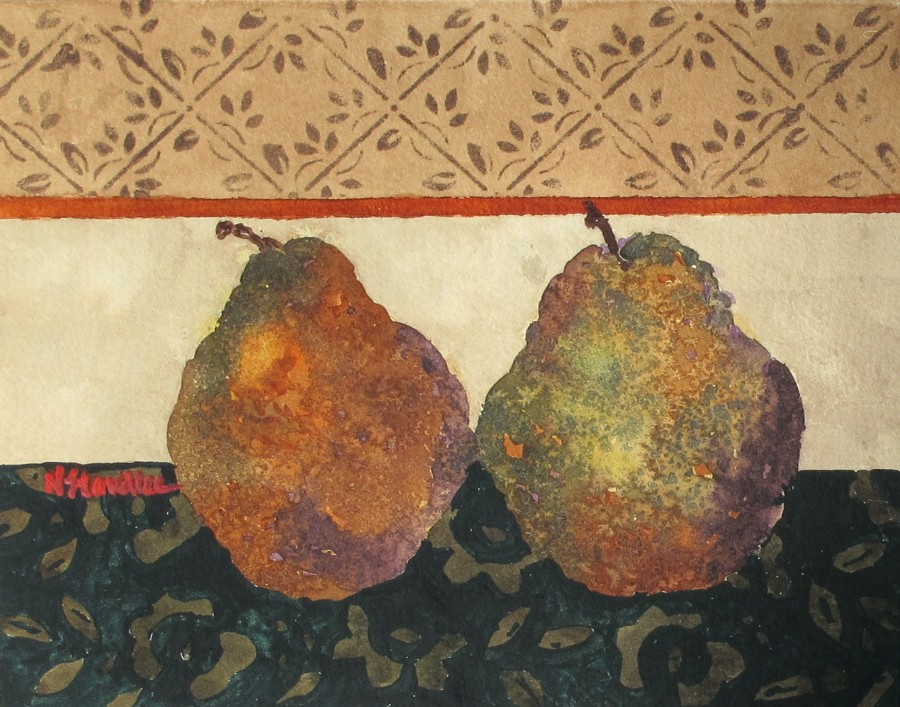 """Pears II 11105"" original fine art by Nancy Standlee"