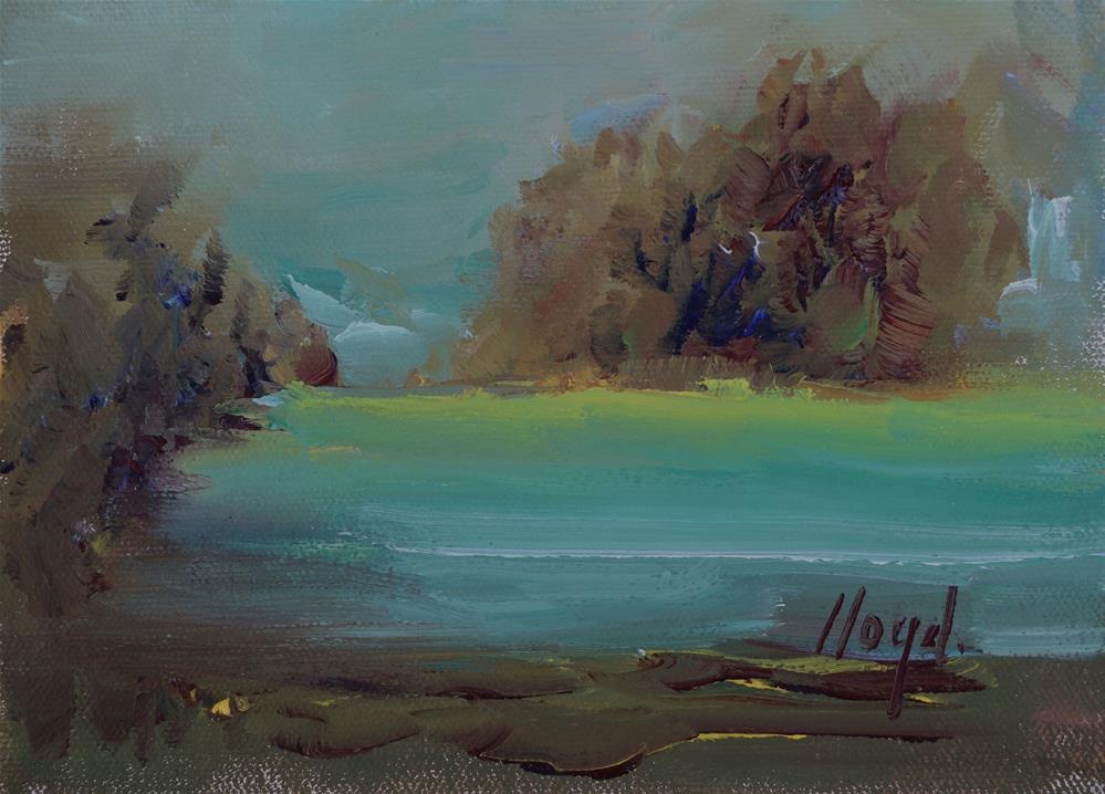 """Pond at Twilight"" original fine art by Diane Lloyd"