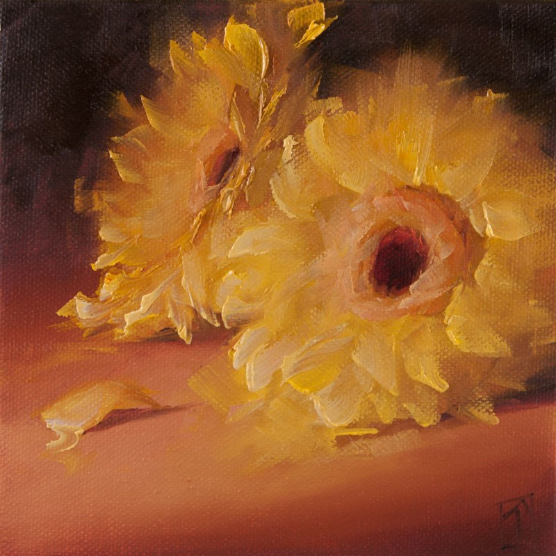 """Study of Daisies "" original fine art by Lori Twiggs"