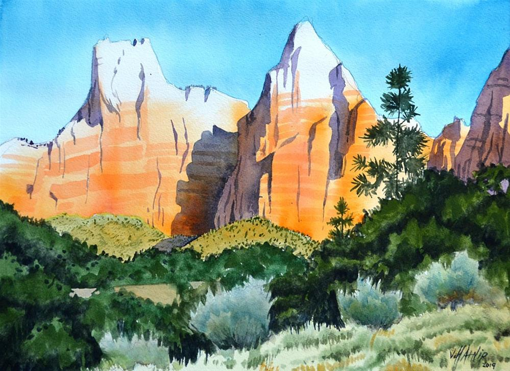 """Zion Two Patriarchs"" original fine art by Jeff Atnip"