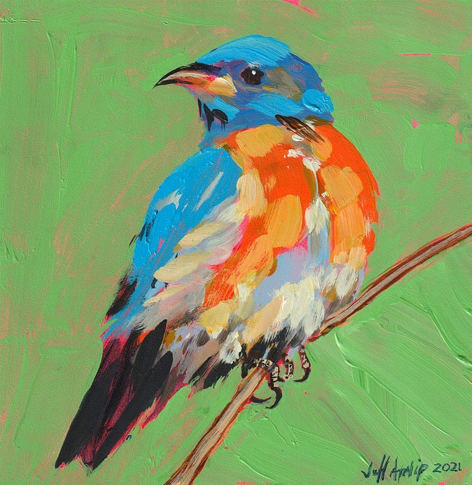 """Bright Bluebird"" original fine art by Jeff Atnip"