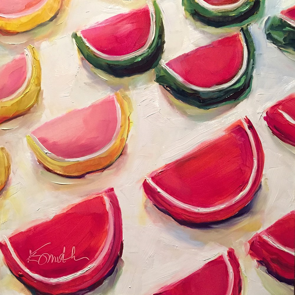 """fruit slices"" original fine art by Kim Smith"