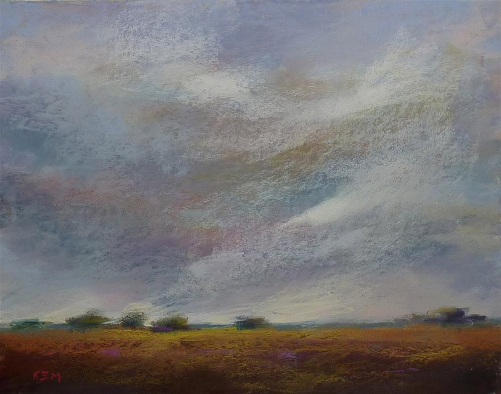 """Stormy Sky over the Prairie"" original fine art by Karen Margulis"