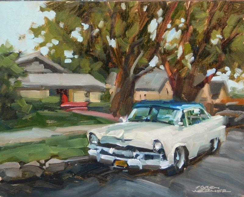 """""""A Simpler Time"""" original fine art by Karen Werner"""