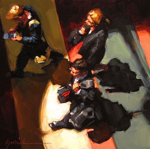 """Terminal Pace"" original fine art by Karin Jurick"