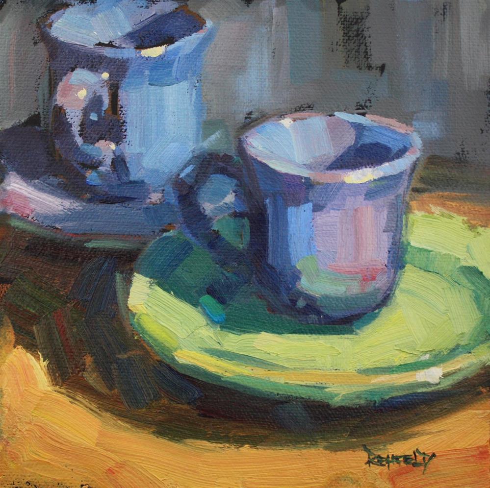 """Morning Coffee Break"" original fine art by Cathleen Rehfeld"