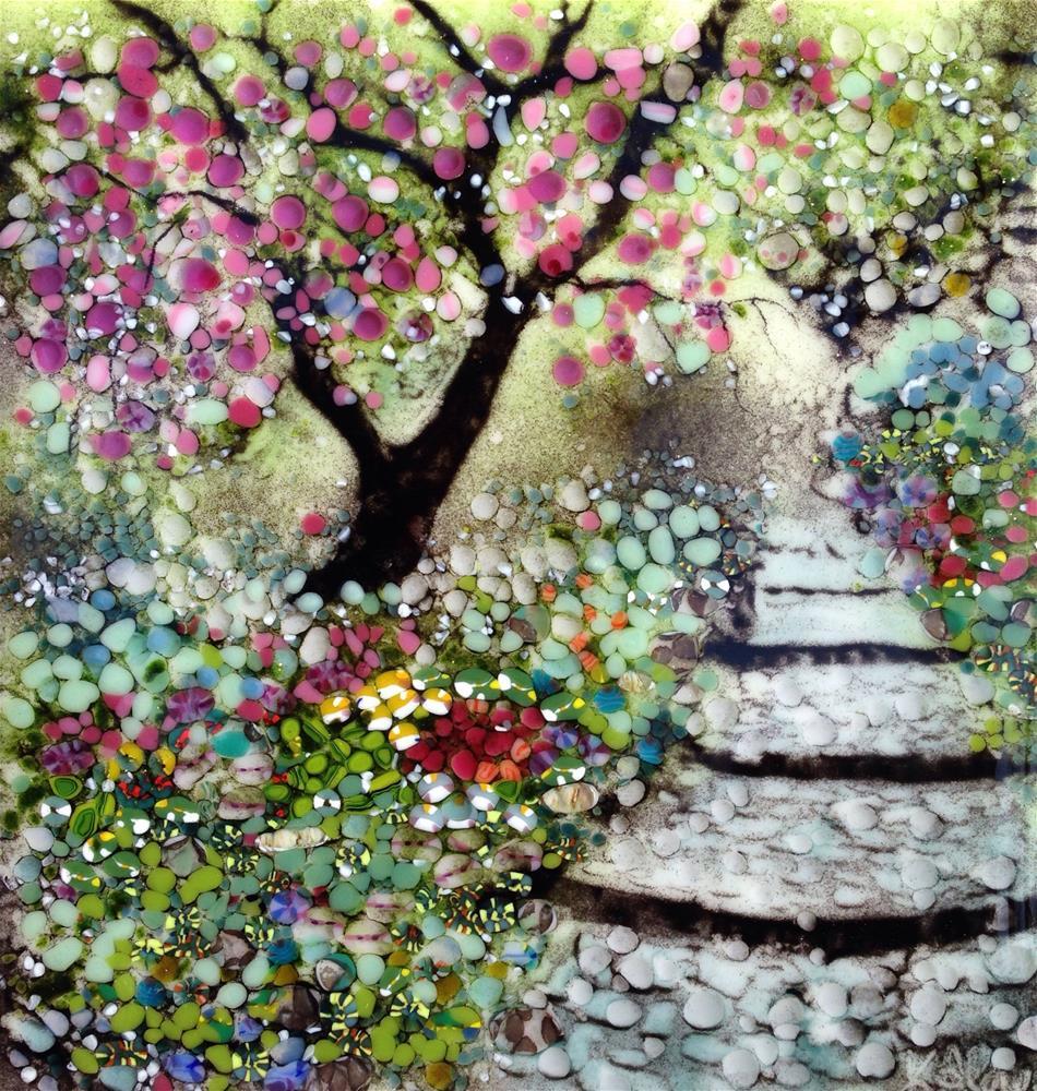 """Redbud Walk"" original fine art by Kelly Alge"