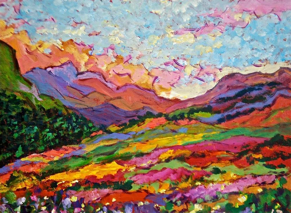 """""""Mountain Wildflowers"""" original fine art by Liz Zornes"""