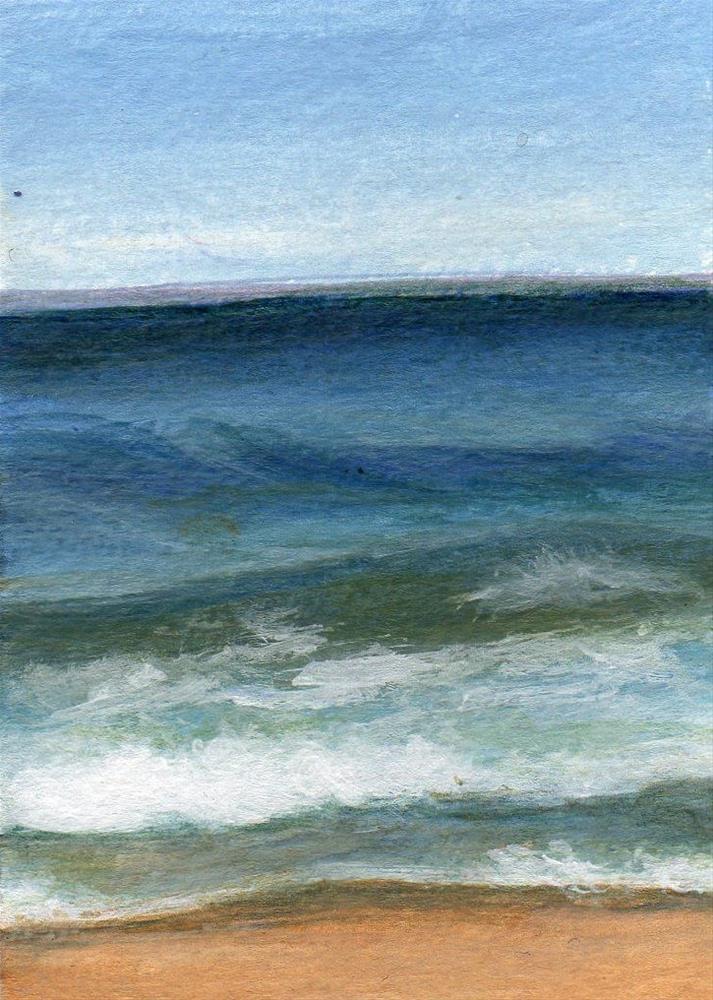"""Ocean Blue"" original fine art by Debbie Shirley"