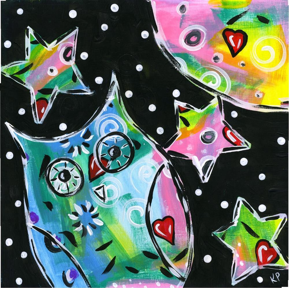 """Up All Night"" original fine art by Kali Parsons"