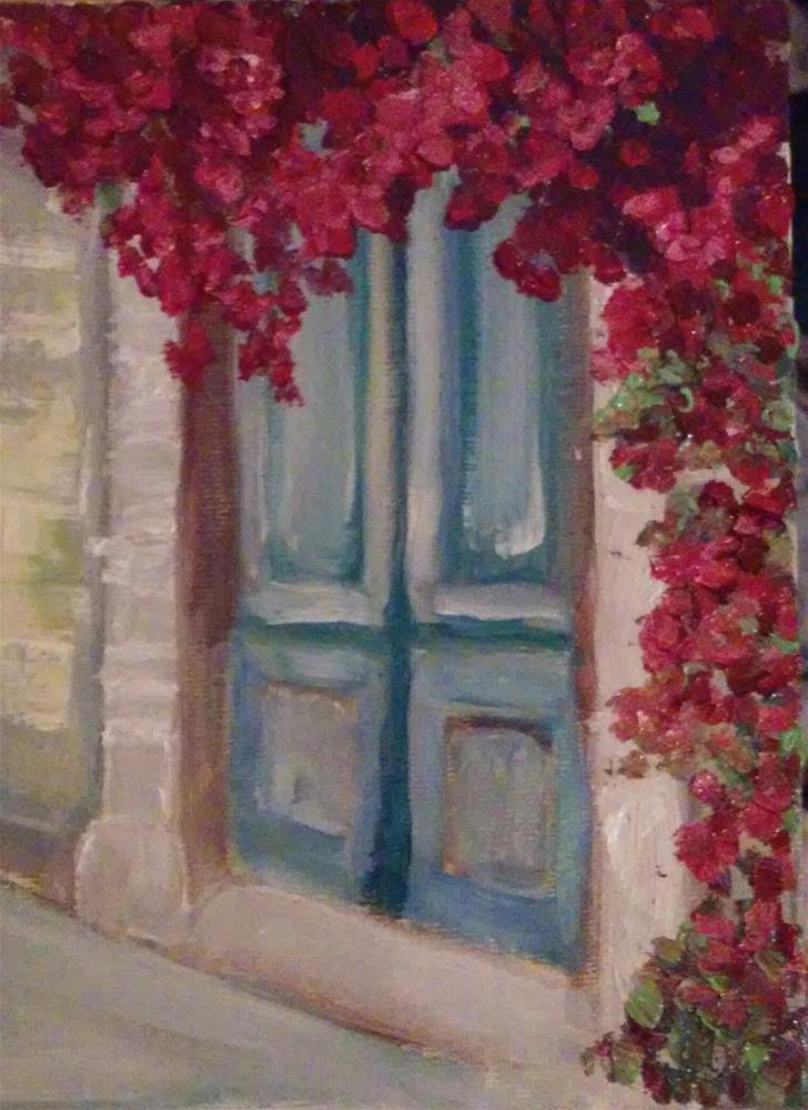 """The Blue Door"" original fine art by Gerri Obrecht"
