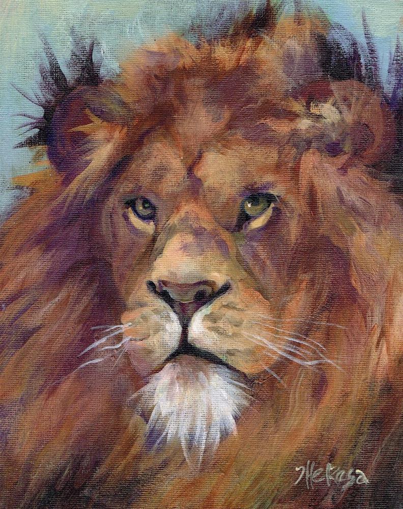 """Lion Study"" original fine art by Theresa Taylor Bayer"