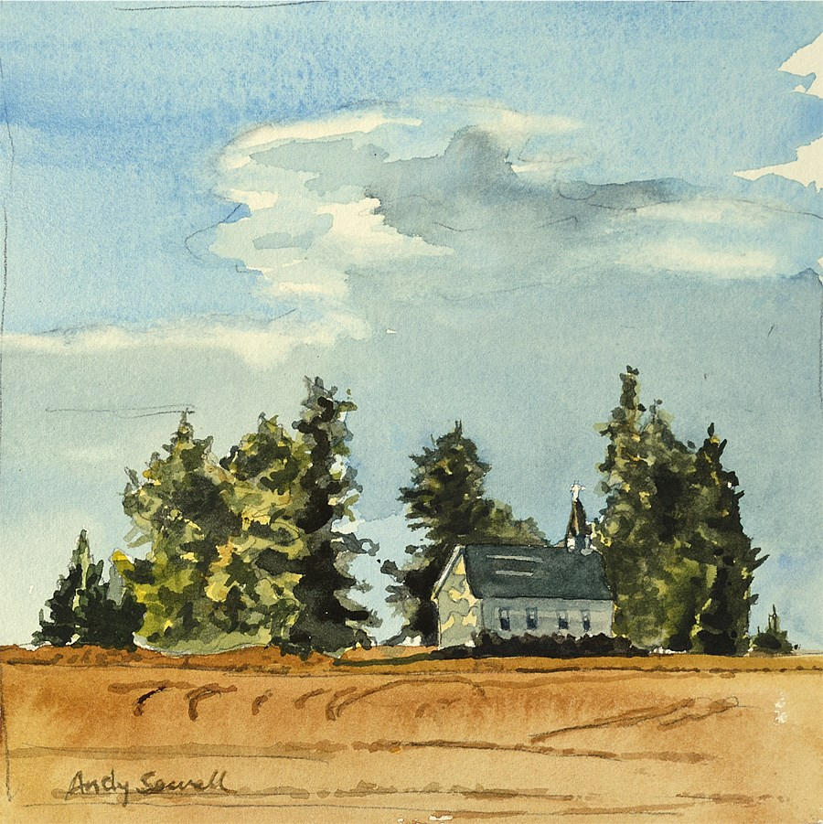 """""""country church"""" original fine art by Andy Sewell"""