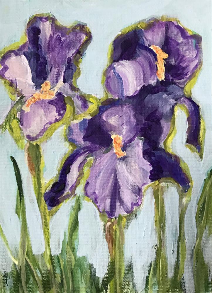 """Iris"" original fine art by Joan Matero"