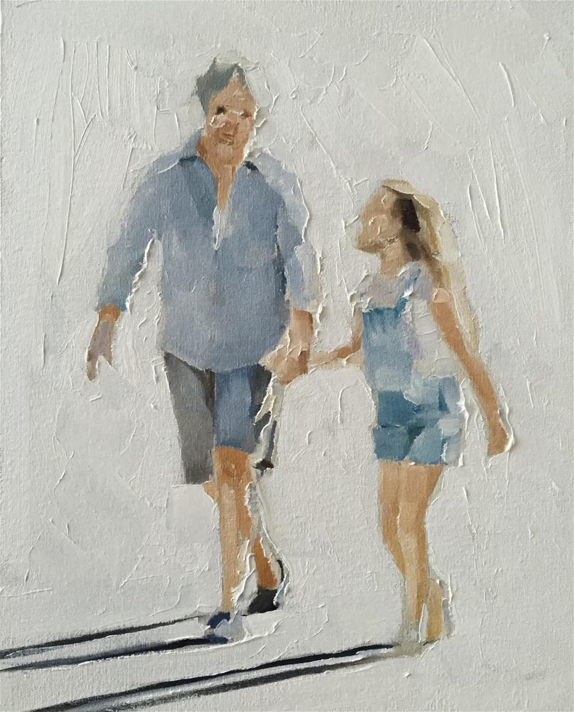 """A Walk with Gran"" original fine art by James Coates"