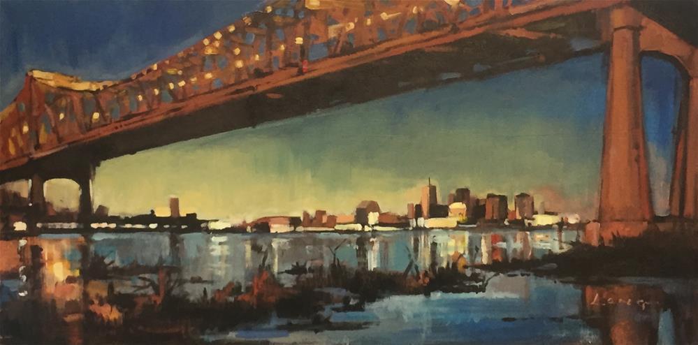 """""""Crescent City Connection"""" original fine art by Chris Long"""
