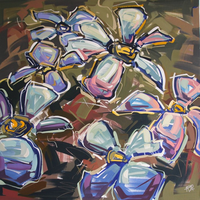 """Flower Exploration 12"" original fine art by Roger Akesson"